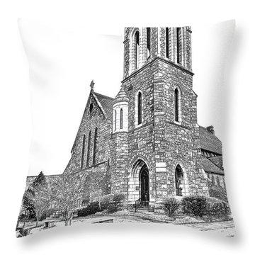 Saint Andrews Episcopal Church Throw Pillow
