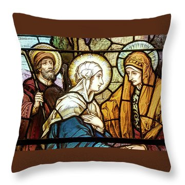 Throw Pillow featuring the photograph Saint Anne's Windows by Jim Proctor