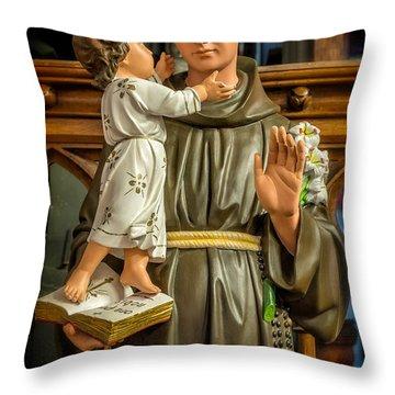 Saint Anthony Throw Pillow