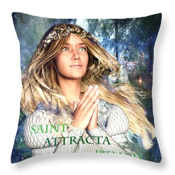 Saint Attracta Irish Light Throw Pillow