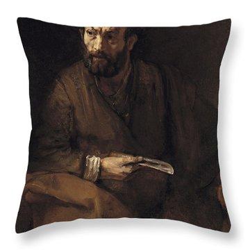 Saint Bartholomew, 1657 Throw Pillow