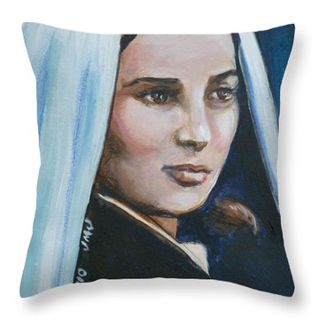 Saint Bernadette Soubirous Throw Pillow