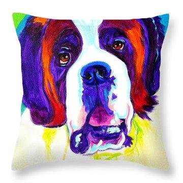 Saint Bernard -  Throw Pillow by Alicia VanNoy Call