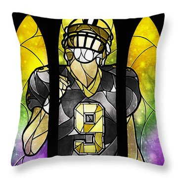 Saint Brees Throw Pillow