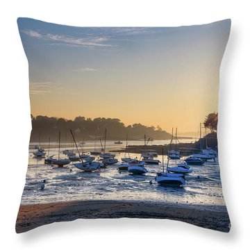 Throw Pillow featuring the photograph Saint Briac by Delphimages Photo Creations