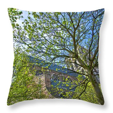 Saint Catharine's Church In Brielle Throw Pillow
