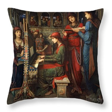 Saint Cecilia Throw Pillow by John Melhuish Strudwick