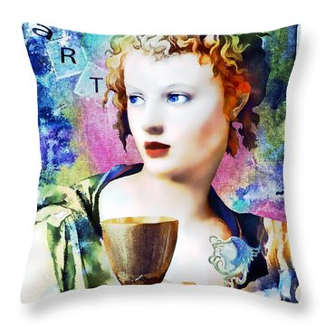 Saint Cecilia Risen Throw Pillow