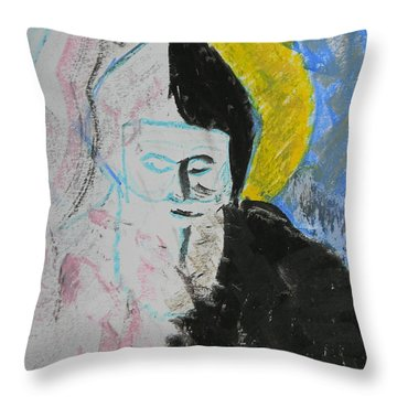 Saint Charbel Throw Pillow by Marwan George Khoury
