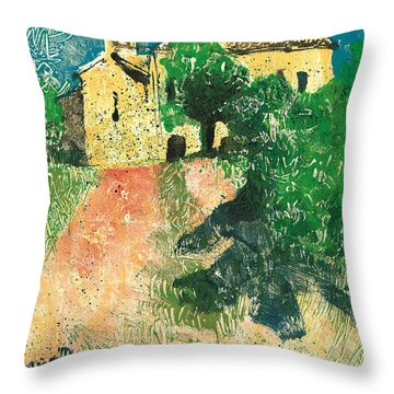 Throw Pillow featuring the painting Saint Donat Provence by Martin Stankewitz