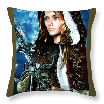 Saint Dymphna 5 Throw Pillow