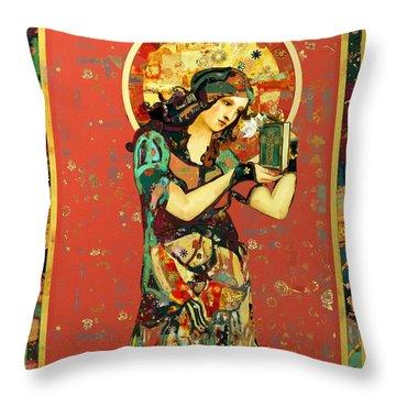 Saint Dymphna Throw Pillow