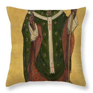 Saint Eligius Of Noyon Throw Pillow