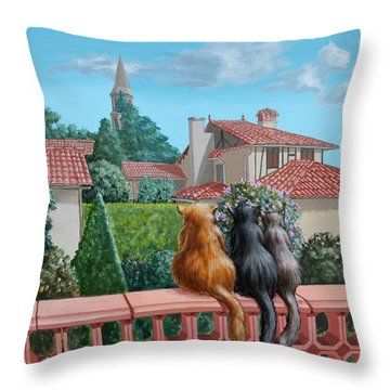 Saint-frajou. August. Throw Pillow