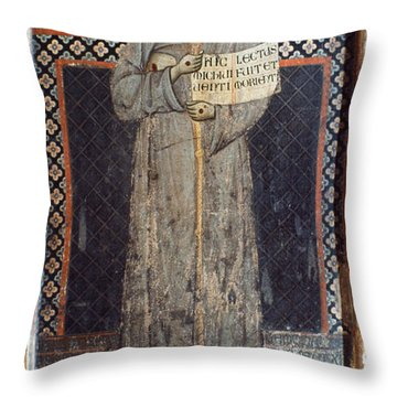 Saint Francis Of Assisi Throw Pillow by Granger
