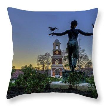 Saint Francis On Campus Throw Pillow