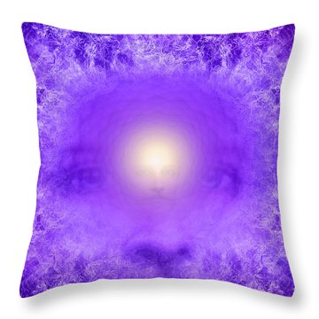 Saint Germain And The Violet Flame Throw Pillow by Robby Donaghey