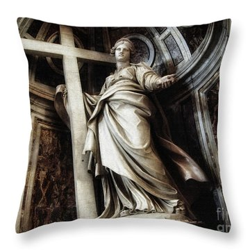 Saint Helena Statue Inside Saint Peter S Basilica Rome Italy Throw Pillow