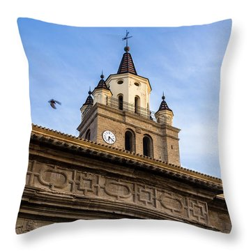 Throw Pillow featuring the photograph Saint Hieronymus Facade Of Calahorra Cathedral by RicardMN Photography