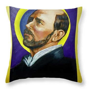 Saint Ignatius Loyola Throw Pillow by Bryan Bustard