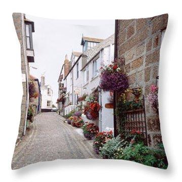 Saint Ives Street Scene, Cornwall Throw Pillow