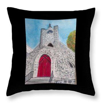 Saint James Episcopal Church Throw Pillow