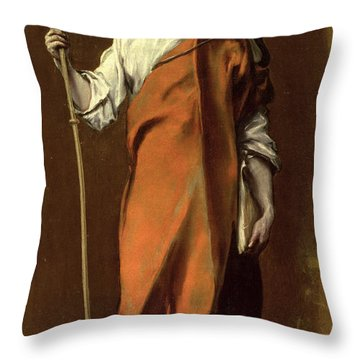 Saint James The Greater Throw Pillow by El Greco