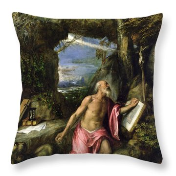 Saint Jerome Throw Pillow by Titian