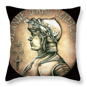 Saint Joan Of Arc Throw Pillow