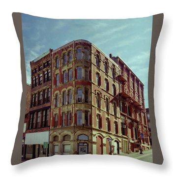 Saint John Water Street Throw Pillow
