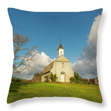 Throw Pillow featuring the photograph Saint Joseph's Church by Ryan Manuel