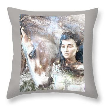 Saint Kateri Poster Throw Pillow