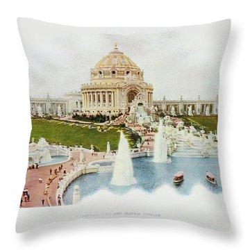 Saint Louis World's Fair Festival Hall And Central Cascade                            Throw Pillow