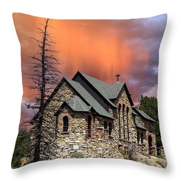 Throw Pillow featuring the photograph Saint Malo Panorama by Shane Bechler