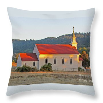 St. Mary's Church At Sunset Throw Pillow