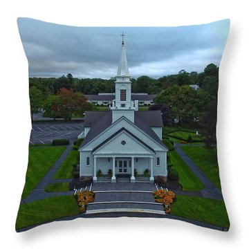 Saint Mary's Church From Above Throw Pillow