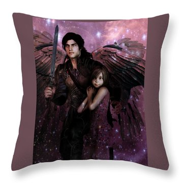 Saint Michael The Protector Throw Pillow
