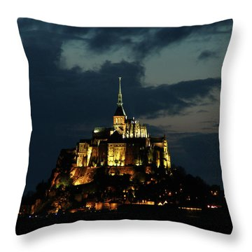Saint Michel Mount After The Sunset, France Throw Pillow by Yoel Koskas