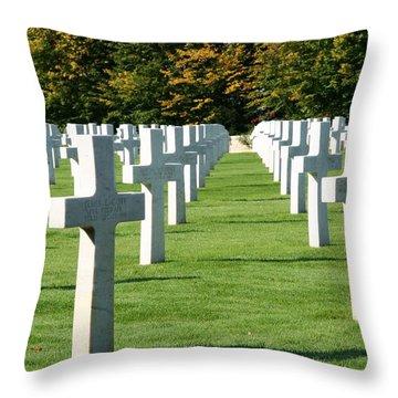 Saint Mihiel American Cemetery Throw Pillow