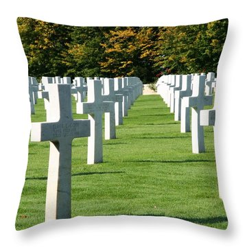 Saint Mihiel American Cemetery Throw Pillow by Travel Pics
