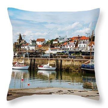 Saint Monans Harbour Throw Pillow