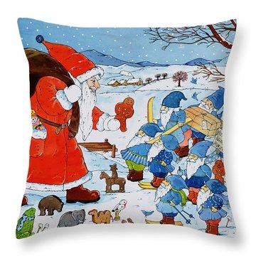 Saint Nicholas Throw Pillow by Christian Kaempf
