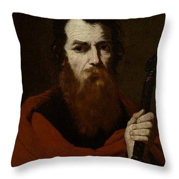 Saint Paul  Throw Pillow by Jusepe de Ribera