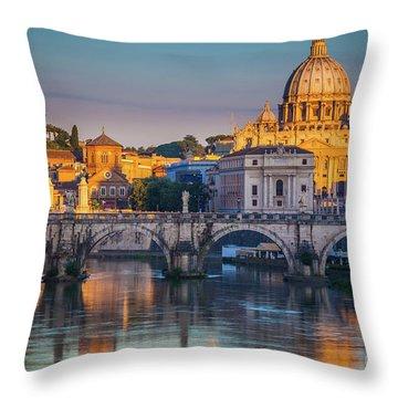 Saint Peters Basilica Throw Pillow
