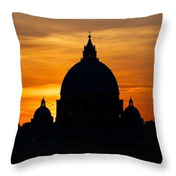 Saint Peters Sunset Throw Pillow