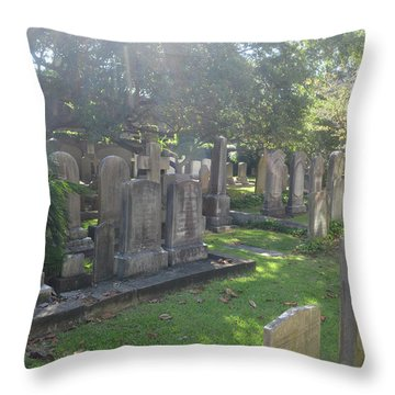 Saint Phillips Cemetery 4 Throw Pillow by Gordon Mooneyhan