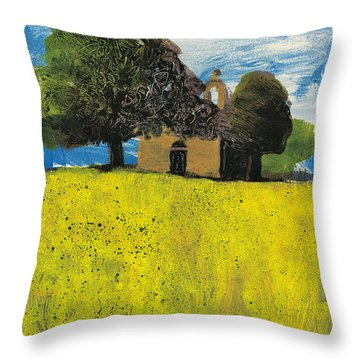Throw Pillow featuring the painting Saint Pierre At Pierrerue by Martin Stankewitz