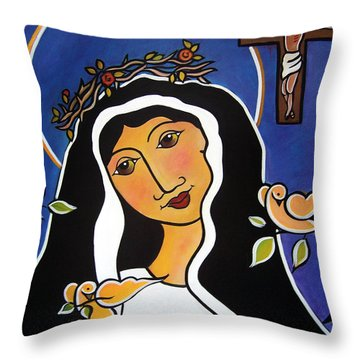 Saint Rita - Patron Of Impossible Causes Throw Pillow