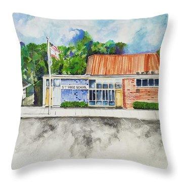 Saint Rose Catholic School Throw Pillow