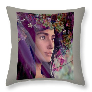 Saint Rose Of Lima 4 Throw Pillow